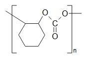 Chemical formula for Poly (cyclohexene propylene carbonate)