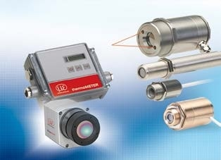 Sensors and measurement devices for non-contact temperature measurement