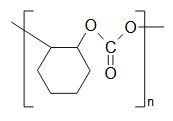 Chemical formula for Poly (cyclohexene propylene carbonate)