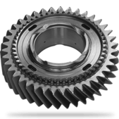 Gear with synchronising wheel