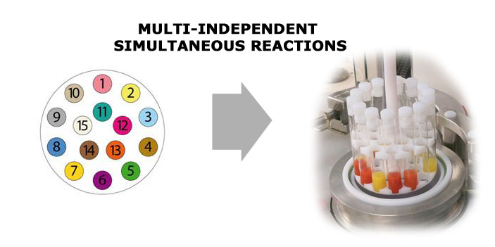 Multi-independent simultaneous reactions.