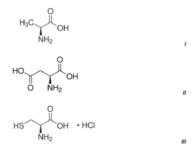 Chemical structures of the three amino acids measured.