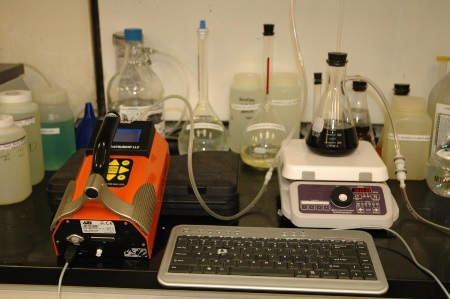 Apparatus Setup for determination of H2S in beer by Jerome®J605.