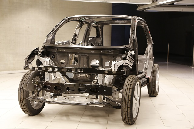 BMW's i3 utilizes proprietary adhesives provided by Dow Chemical to join the passenger cell made of composites to the aluminum drive module. Similar adhesives have employed in the aerospace industry to join mixed materials.