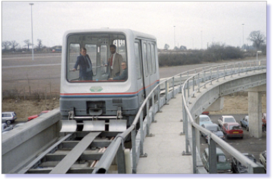 A MagLev train operated between Birmingham International Railway Station and Birmingham International Airport.