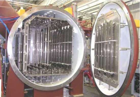 Batch vacuum aluminum brazing furnace