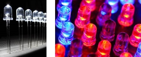 LEDs can produce neutral white light or shine in all colors of the spectrum.