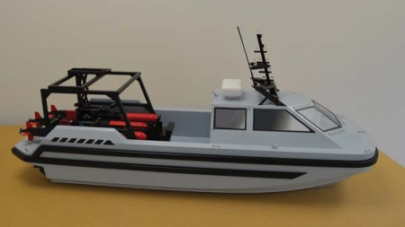 Ogle Models Builds New High Quality Boat Model for ATLAS ELEKTRONIK UK
