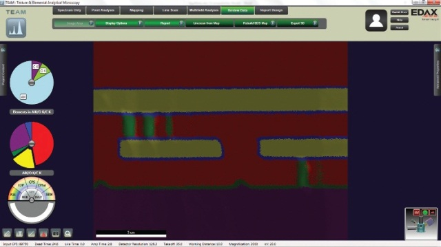 TEAM™ software showing phase map of integrated circuit