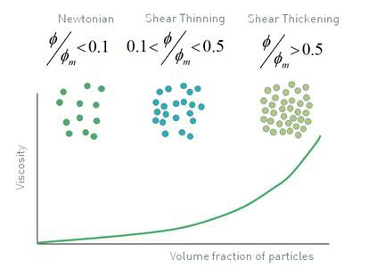 Increasing the number of particles in a system changes the flow behavior.