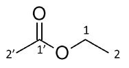 Compound 1 is ethyl acetate