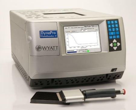 The DynaPro Plate Reader II assesses solution quality in standard 96, 384 or 1536 well plates, without perturbing the samples.