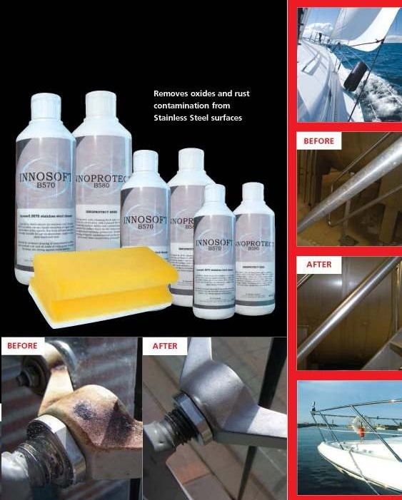 Cleaning and passivation kit for stainless steel