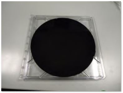 Photograph of 200mm wafer with vertical graphene