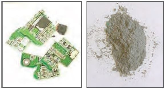 Circuit board before and after