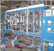 Gas-transfer membrane skid deoxygenates makeup water before it enters the steam cycle.