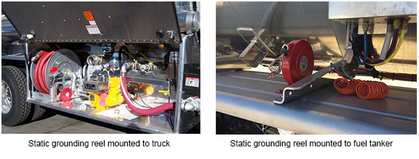 Static Grounding Reels For Fuel Transit And Aircraft Refueling