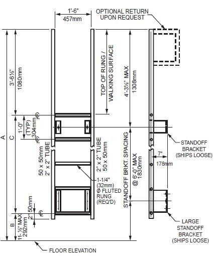 Walk Thru Ladder : Using strongwell s safrail fiberglass to design ladders