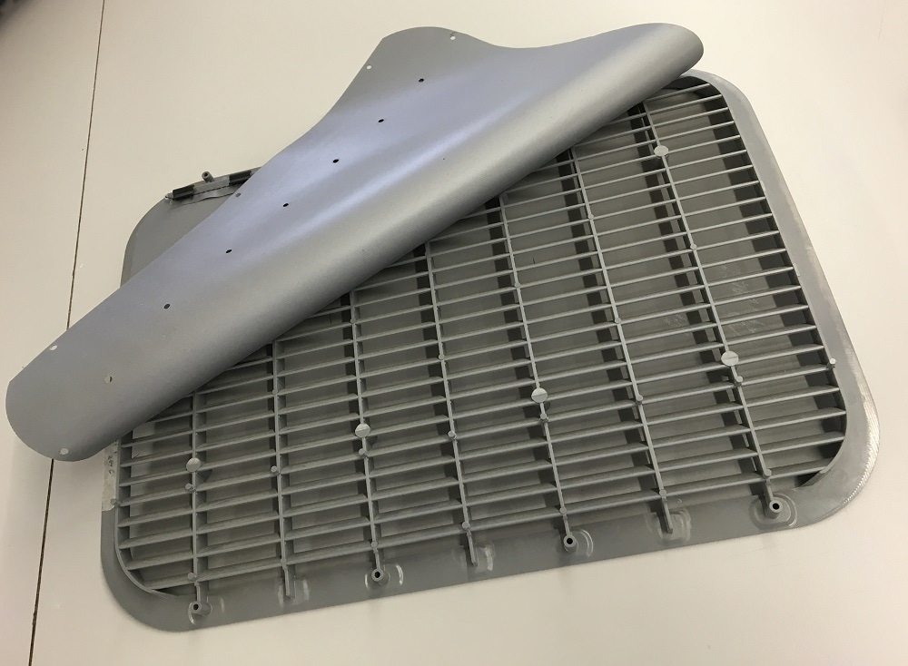 Air grill Decompression Baffle