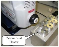 Direct headspace sampling of heated water