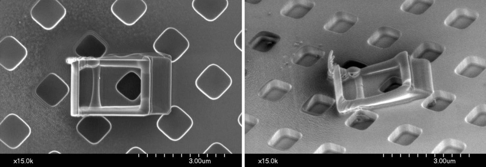 Contamination formed on a silicon wafer
