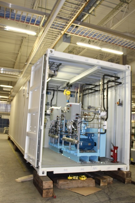 Proton OnSite Containerized Hydrogen Generators aren't just used for makeup gas, our generators can be optioned with a compressor system to store hydrogen for regas operations.