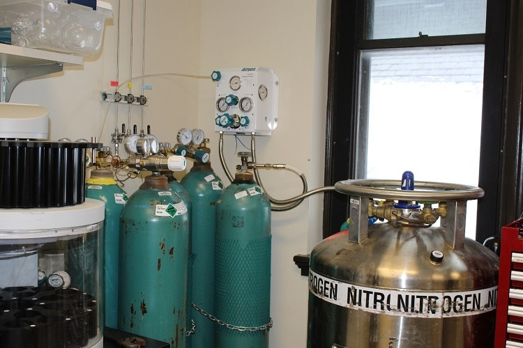 nitrogen in the lab