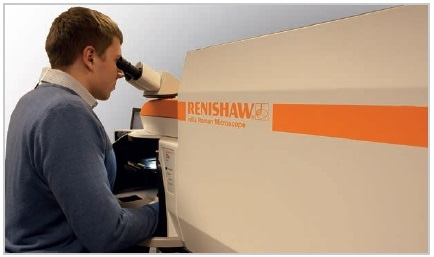 The Renishaw inVia confocal Raman microscope.