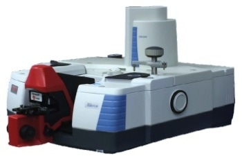 Nicolet iS50 FTIR spectrometer with the SurveyIR microspectroscopy accessory in the sample compartment.