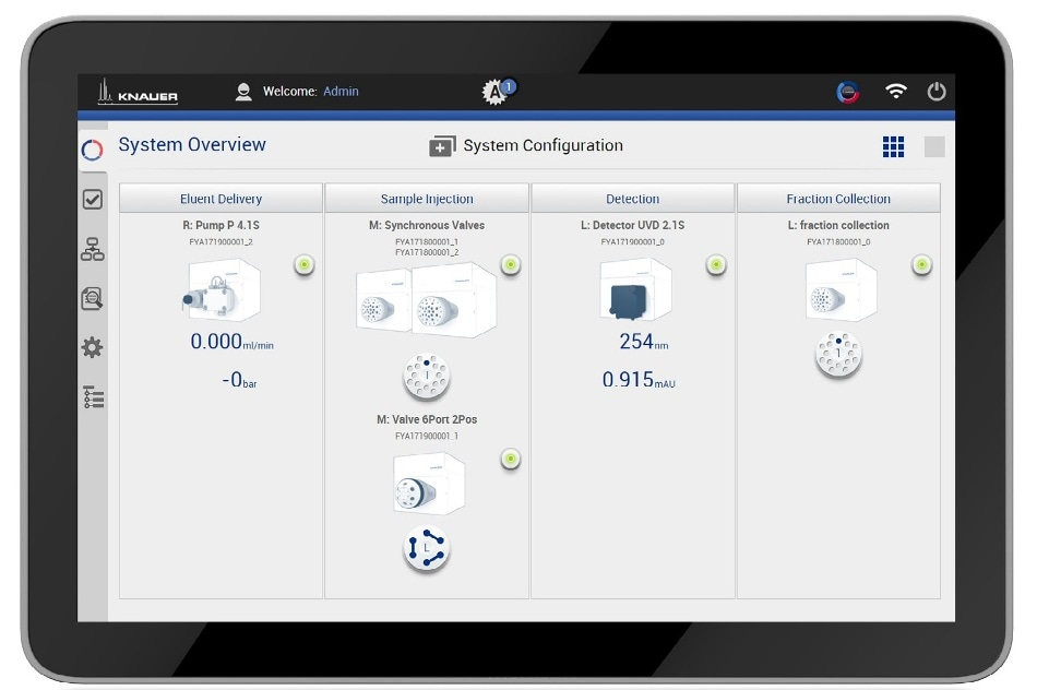Intuitive and touch-optimized control software Mobile Control Chrom