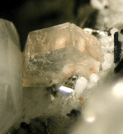Arisite from the Aris phonolite, Namibia. FOV: 2 mm.​