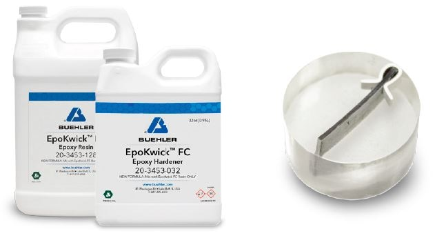 EpoKwick FC epoxy provides excellent edge retention, low shrinkage and low viscosity. This ensured that there was no board delamination due to sample preparation during the grinding and polishing steps.