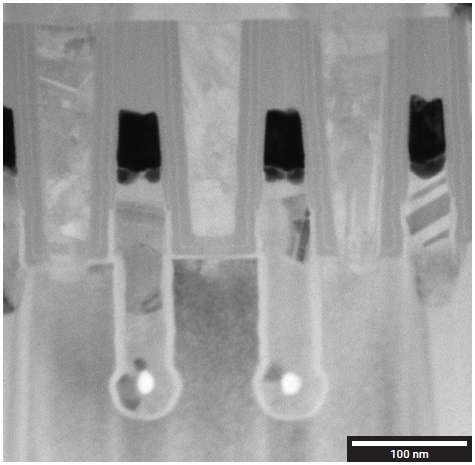 STEM-BF image in which 5-nm-thick layers are well-resolved.
