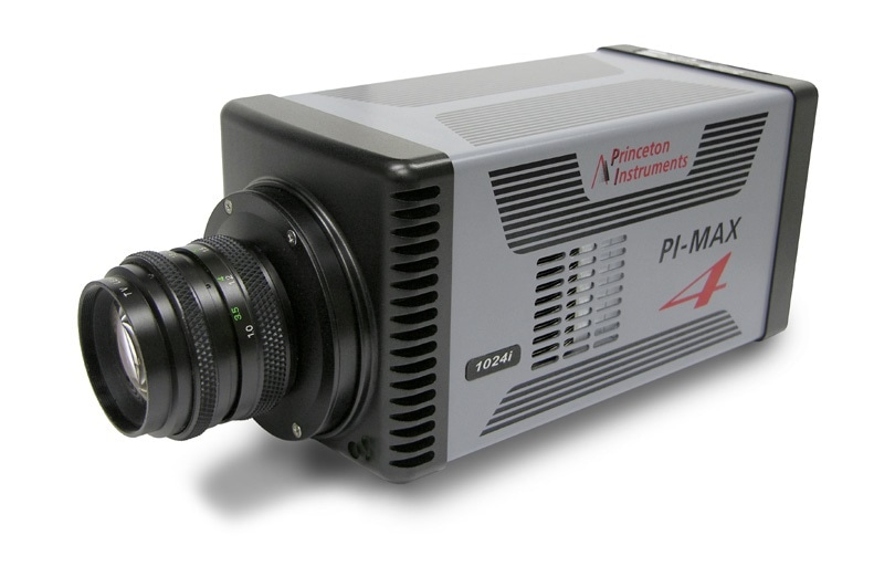 PI-MAX4:1024i-HR gated ICCD camera from Princeton Instruments.