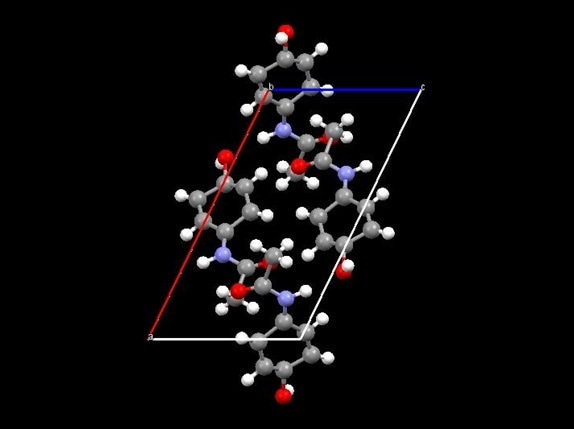 Crystal structure of acetaminophen from reflection sample