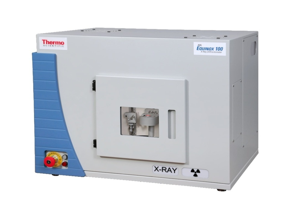 ARL EQUINOX 100 X-ray diffractometer.