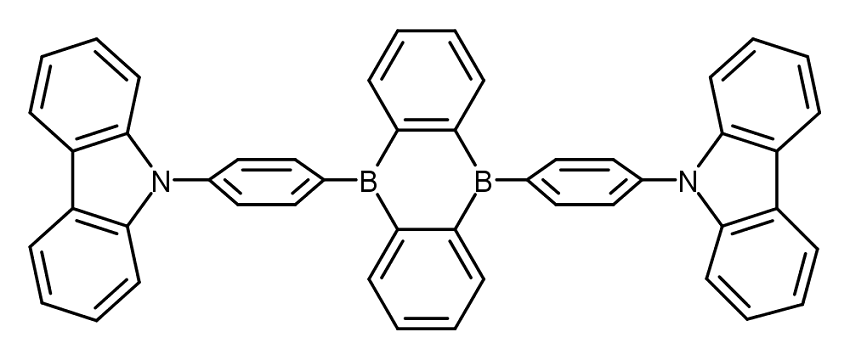 Chemical structure of the CzDBA TADF emitter.
