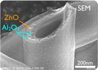 SEM image of a tube before heating.
