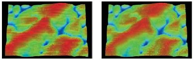 The Dektak Vision software has a special feature that can filter out scan artifacts caused by thermal drift or vibration during a 3D map operation.