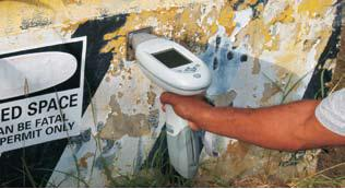 Industrial lead paint measurement for site assessment and worker protection.