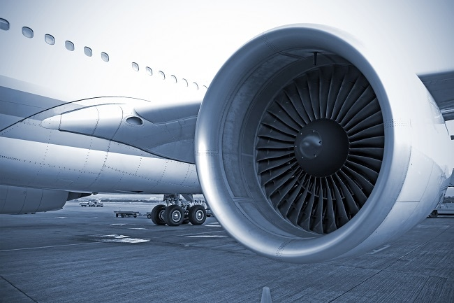 Polymide films are used  in aerospace applications for example parts for aircraft jet engines. Image Credit: Shutterstock/FedericoRostagno