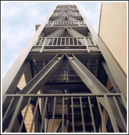 Fibreglass Stair Tower Offering Less Maintenance Over