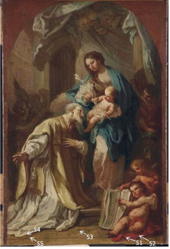 The Madonna Appearing to St. Philip Neri, 1740, Sabastiano Conca, oil on canvas.