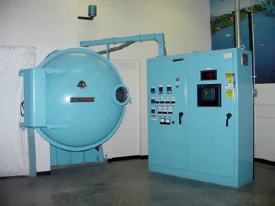 A typical rack-type IVD aluminum coater.