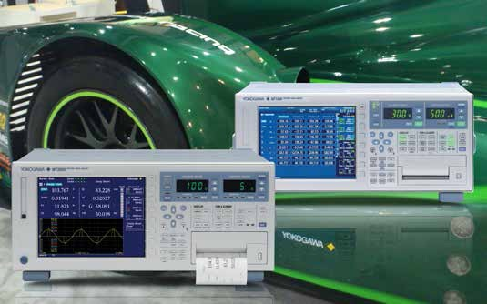 Electric motor testing is a main application area for Yokogawa