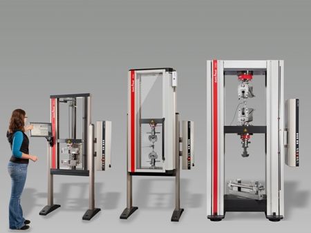 Zwick's new Allround-Line system for testing of fiber-reinforced composite specimens is compatible with 13 different test fixtures and enables testing to more than 100 standards