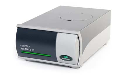 The Viscotek SEC-MALS 20 instrument.