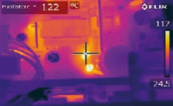 Detection of Failures in Electronics Equipment using FLIR's Thermal Imaging Camera Technology