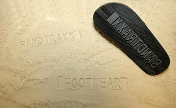 Waterjet Cut Rubber Components for Sandals
