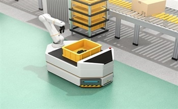 Automatic Fast Charging of Automated Guided Vehicles (AGVs)